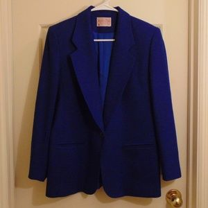 Vintage Pendleton Petite Blue Virgin Wool Blazer